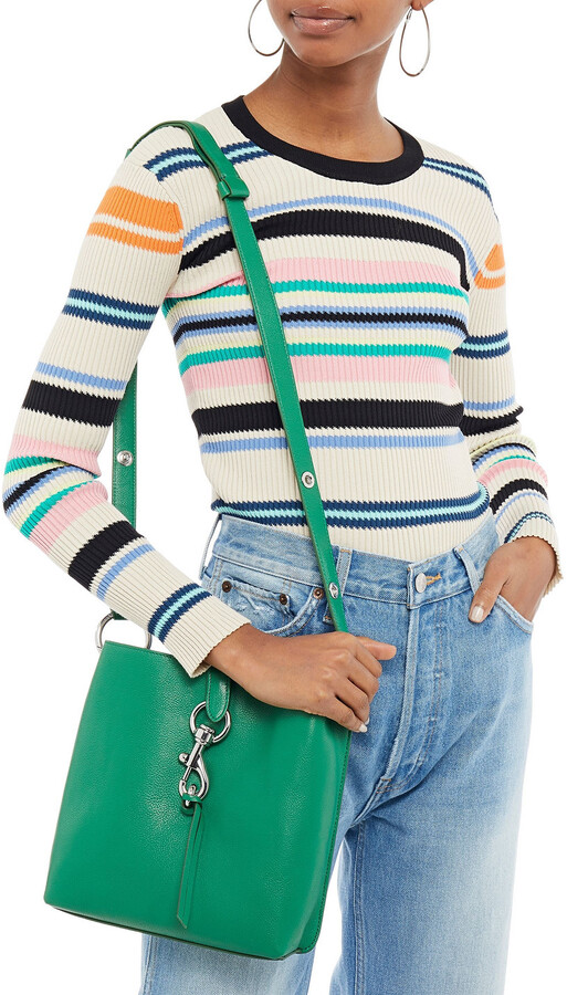 Thumbnail for your product : Rebecca Minkoff Megan Small Textured-leather Shoulder Bag