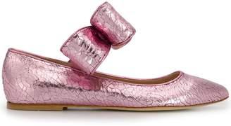 Polly Plume bow ballerina shoes
