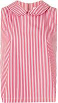 Societe Anonyme striped sleeveless top
