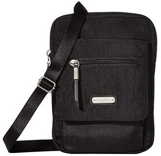 Baggallini New Classic Far and Wide RFID Crossbody Bag (Black) Cross Body Handbags