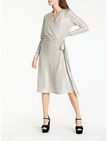 Somerset by Alice Temperley Foil Wrap Over Dress, Silver