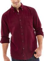 ST. JOHN'S BAY St. John's Bay Solid Flannel Shirt