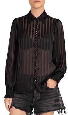 The Kooples Regular Stripes Button-Down Shirt