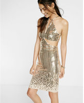 Express cut-out sequin shift dress