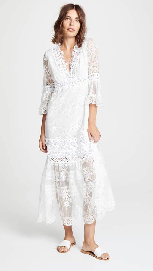 Temptation Positano V Neck Lace Dress