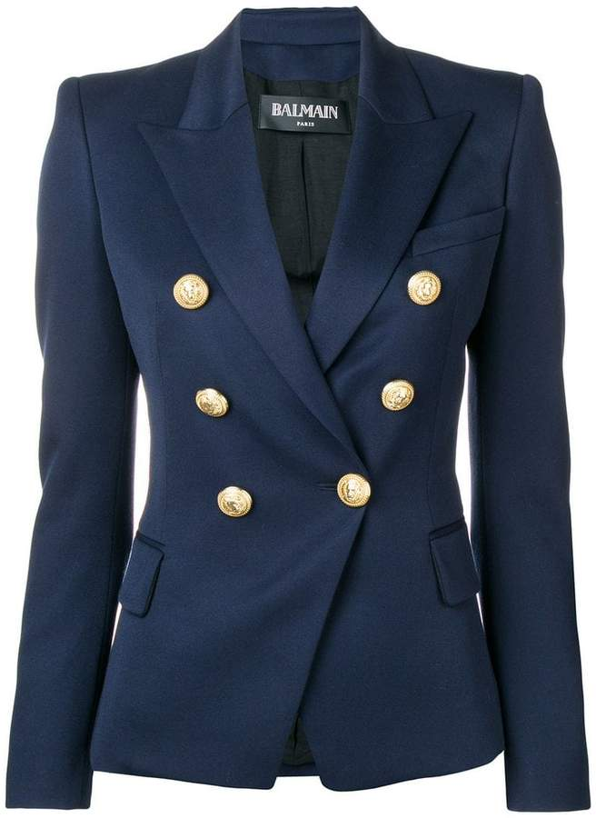 a08f7cfb8d Balmain Double Breasted Jacket - ShopStyle