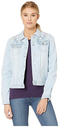 FDJ French Dressing Jeans Statement Denim Pastel Embroidered Jacket