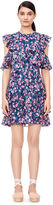Rebecca Taylor Open-Shoulder Tea Rose Dress