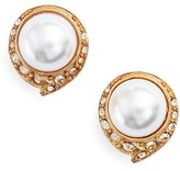 Oscar de la Renta Women's Simulated Pearl Stud Earrings