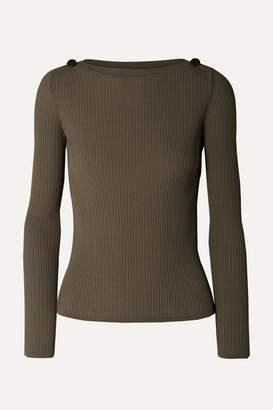 Max Mara Ribbed-knit Sweater - Army green