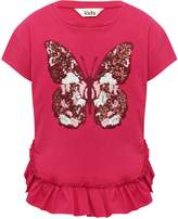 M&Co Embroidered Butterfly T-Shirt
