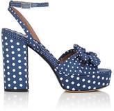 Tabitha Simmons Women's Jodie Polka Twill Platform Sandals