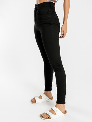 Lee High Licks Crop Jeans in Primo Black Denim