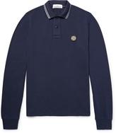 Stone Island Slim-Fit Stretch-Cotton Piqué Polo Shirt