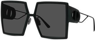 Christian Dior Oversized Square Injection Plastic Sunglasses