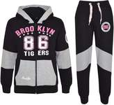 A2Z 4 Kids® Kids Girls Tracksuit Brooklyn 86 Tigers Print Hoodie & Bottom Jog Suit 7-13 Year