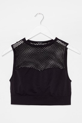 Nasty Gal Womens The Best is Net to Come Workout Crop Top - Black - M/L