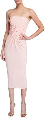 Alex Perry Lindsey Strapless Twist Cocktail Dress