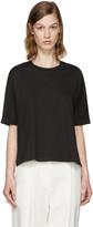 3.1 Phillip Lim Black Silk Combo T-Shirt
