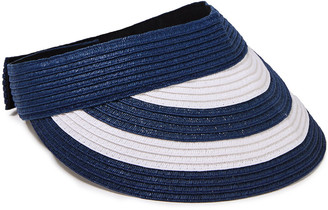 Sensi Striped Toquilla Straw Visor