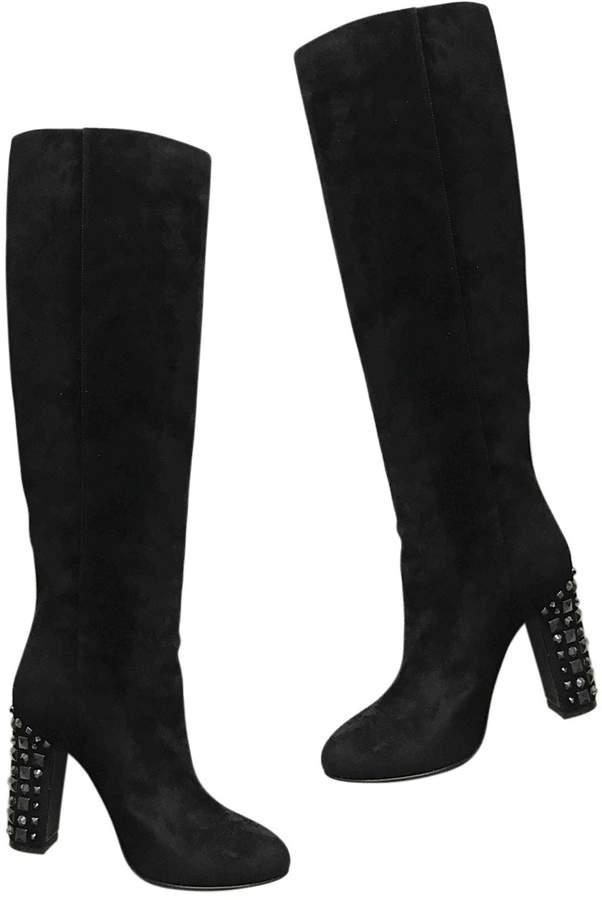 Dolce & Gabbana Black Suede Boots