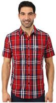 U.S. Polo Assn. Slim Fit Short Sleeve Plaid Sport Shirt