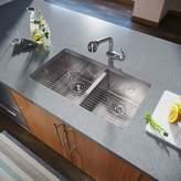 "MR Direct Stainless Steel 32"" x 19"" Double Basin Undermount Kitchen Sink MR Direct"