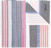 Armani Collezioni striped scarf - women - Cotton/Linen/Flax - One Size