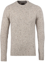 Barbour Fog Beige Netherby Crew Neck Sweater