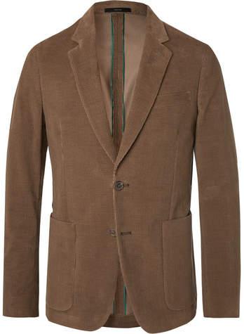 Paul Smith Olive Slim-Fit Cotton-Corduroy Suit Jacket