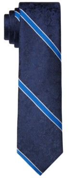 Tommy Hilfiger Men's Slim Floral Stripe Tie