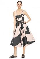 Milly Swirl Jacquard Bustier Midi Dress