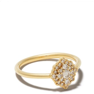 Astley Clarke 14kt yellow gold large Interstellar cluster diamond ring