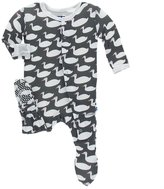 Kickee Pants Baby Boy's Stone Geese Footie