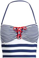 Ralph Lauren Striped Cropped Bikini Top