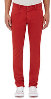 Barneys New York MEN'S TWILL CHINOS-RED SIZE 30