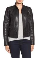 Bernardo Women's Quilted Leather Moto Jacket