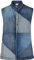 Current/Elliott Patchwork denim vest