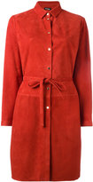 Kiton belted shirt dress - women - Lamb Skin - 44