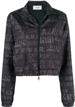 Kirin Logo Print Open-Back Jacket