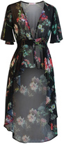 Marvy Fashion Floral Print Cover Up
