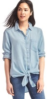 Gap TENCEL front-tie shirt