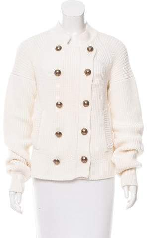 Chloé Double-Breasted Wool Cardigan
