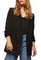 Miss Selfridge Ruched Sleeve Blazer, Black