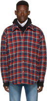 Balenciaga Red Oversized Flannel Shirt