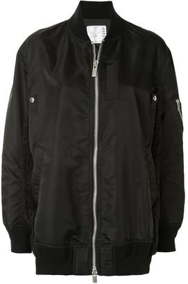 Sacai Wool-Trim Bomber Jacket
