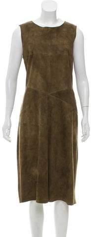 Chanel Suede Sheath Dress