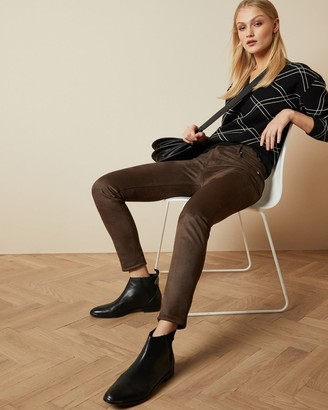 Ted Baker Faux Suede Skinny Trousers