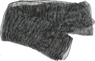 Zest Silver Grey Black Animal Sheer Polyester Scarf FC623