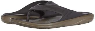 Crocs Swiftwater Wave Flip (Black/Slate Grey) Men's Shoes